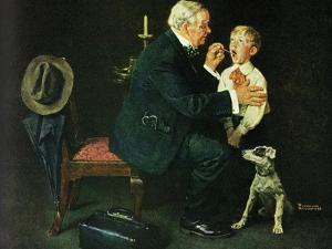 'The Same Advice I Gave Your Dad . . .' by Norman Rockwell