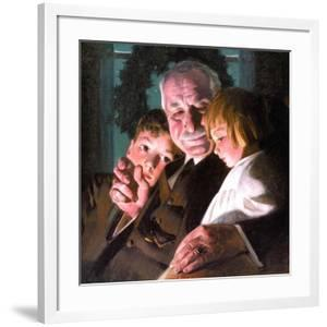 The Story of Christmas (or Grandfather with Two Children) by Norman Rockwell