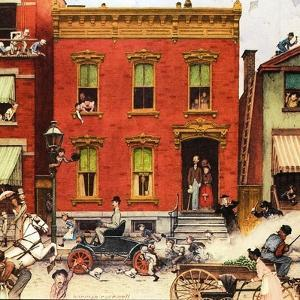 The Street Was Never the Same Again by Norman Rockwell