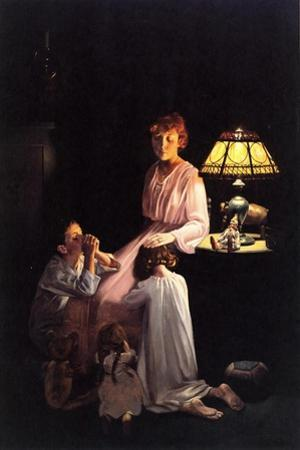 The Stuff of which Memories Are Made (or Children Saying Prayers) by Norman Rockwell