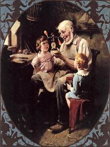 The Toy Maker- by Norman Rockwell