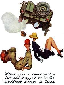 """""""The Wonderful Life of Wilbur the Jeep"""" B, January 29,1944 by Norman Rockwell"""
