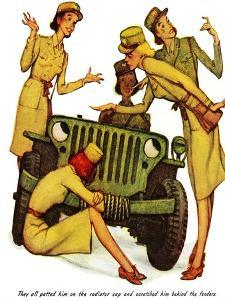 """""""The Wonderful Life of Wilbur the Jeep"""" B by Norman Rockwell"""