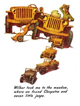 """""""The Wonderful Life of Wilbur the Jeep"""" E, January 29,1944 by Norman Rockwell"""