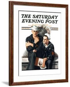 """Thinking of the Girl Back Home"" Saturday Evening Post Cover, January 18,1919 by Norman Rockwell"
