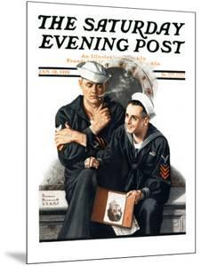 """""""Thinking of the Girl Back Home"""" Saturday Evening Post Cover, January 18,1919 by Norman Rockwell"""