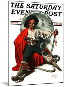 """""""Thoughts of Home"""" Saturday Evening Post Cover, June 14,1924 by Norman Rockwell"""