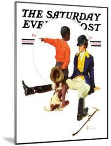 """""""Thrown from a Horse"""" Saturday Evening Post Cover, March 17,1934 by Norman Rockwell"""