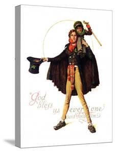 """""""Tiny Tim"""" or """"God Bless Us Everyone"""", December 15,1934 by Norman Rockwell"""