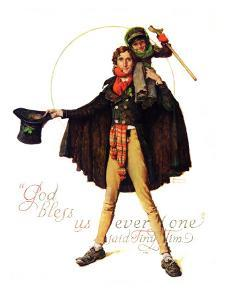 """Tiny Tim"" or ""God Bless Us Everyone"", December 15,1934 by Norman Rockwell"