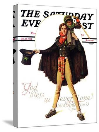 """""""Tiny Tim"""" or """"God Bless Us Everyone"""" Saturday Evening Post Cover, December 15,1934"""