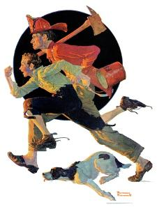 """""""To the Rescue"""", March 28,1931 by Norman Rockwell"""