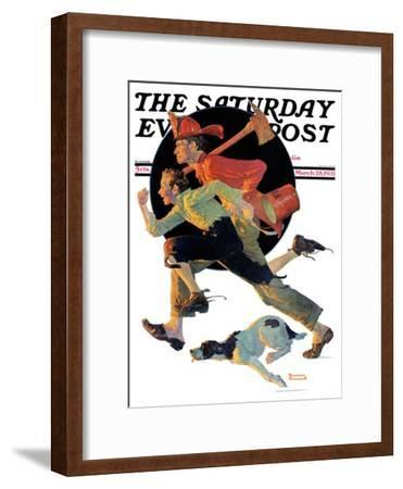 """""""To the Rescue"""" Saturday Evening Post Cover, March 28,1931"""
