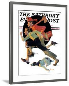 """""""To the Rescue"""" Saturday Evening Post Cover, March 28,1931 by Norman Rockwell"""