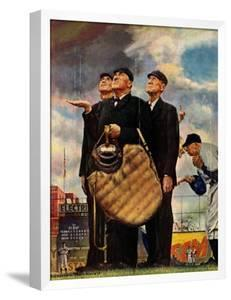 Tough Call - Bottom of the Sixth (Three Umpires), April 23, 1949 by Norman Rockwell