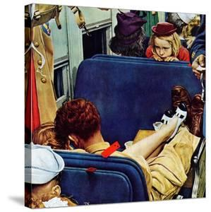 """""""Travel Experience"""", August 12,1944 by Norman Rockwell"""