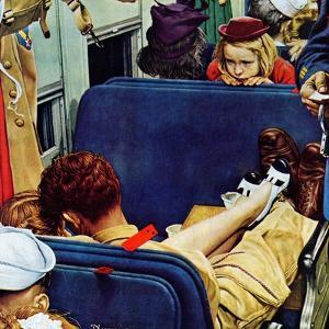 """Travel Experience"", August 12,1944 by Norman Rockwell"