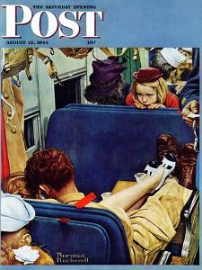 """""""Travel Experience"""" Saturday Evening Post Cover, August 12,1944 by Norman Rockwell"""