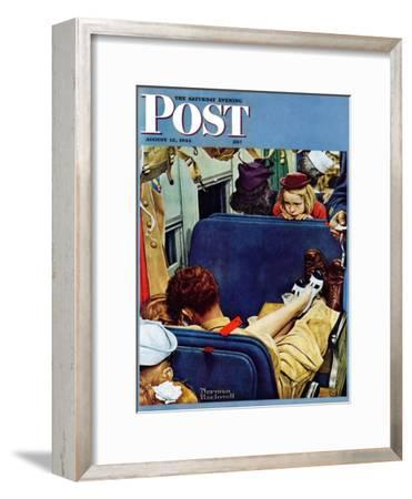 """Travel Experience"" Saturday Evening Post Cover, August 12,1944"