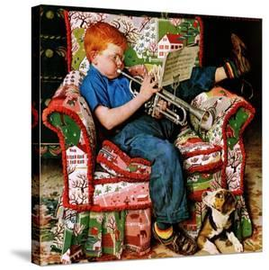 """""""Trumpeter"""", November 18,1950 by Norman Rockwell"""