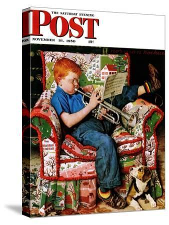 """Trumpeter"" Saturday Evening Post Cover, November 18,1950"