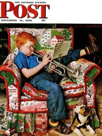 """""""Trumpeter"""" Saturday Evening Post Cover, November 18,1950"""