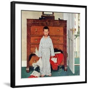"""""""Truth about Santa"""" or """"Discovery"""", December 29,1956 by Norman Rockwell"""