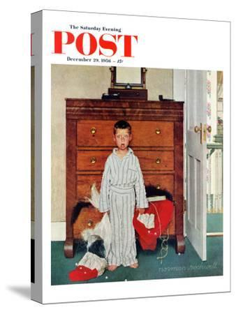 """Truth about Santa"" or ""Discovery"" Saturday Evening Post Cover, December 29,1956"