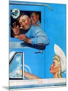 """""""Two Flirts"""", July 26,1941 by Norman Rockwell"""