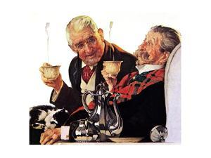 Two Gentlemen with Coffee by Norman Rockwell
