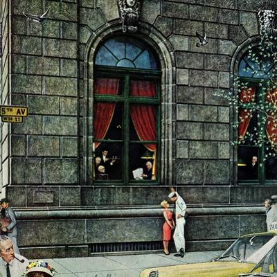 """""""University Club"""", August 27,1960 by Norman Rockwell"""