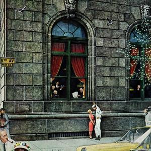 """University Club"", August 27,1960 by Norman Rockwell"