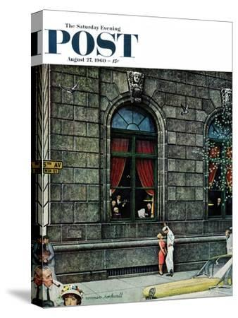"""University Club"" Saturday Evening Post Cover, August 27,1960"