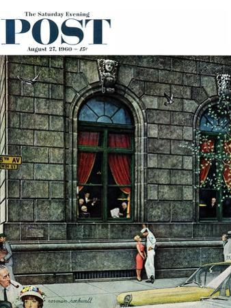 """""""University Club"""" Saturday Evening Post Cover, August 27,1960 by Norman Rockwell"""