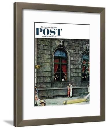 """""""University Club"""" Saturday Evening Post Cover, August 27,1960"""