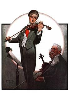"""""""Violin Virtuoso"""", April 28,1923 by Norman Rockwell"""