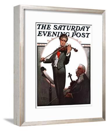 """""""Violin Virtuoso"""" Saturday Evening Post Cover, April 28,1923"""