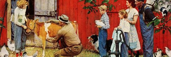 Norman Rockwell Visits a County Agent-Norman Rockwell-Giclee Print