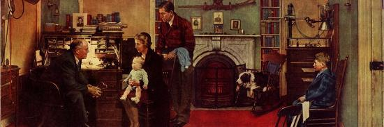 Norman Rockwell Visits a Family Doctor-Norman Rockwell-Giclee Print