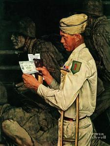 """War Bond"", July 1,1944 by Norman Rockwell"