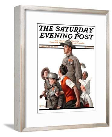 """When Johnny Comes Marching Home"" Saturday Evening Post Cover, February 22,1919"
