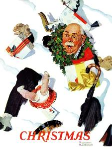"""""""White Christmas"""", December 25,1937 by Norman Rockwell"""
