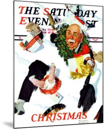 """White Christmas"" Saturday Evening Post Cover, December 25,1937"