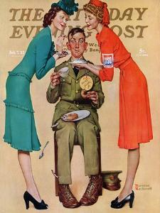 """Willie Gillis at the U.S.O."" Saturday Evening Post Cover, February 7,1942 by Norman Rockwell"