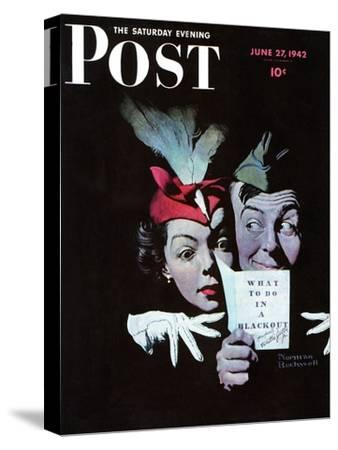 """Willie Gillis in a Blackout"" Saturday Evening Post Cover, June 27,1942"