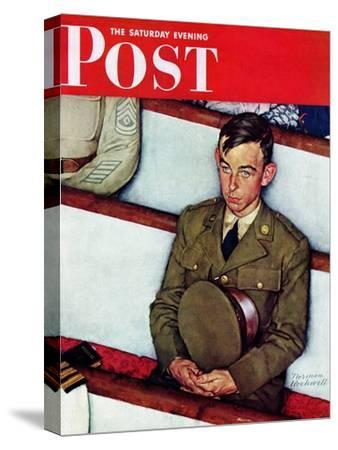 """""""Willie Gillis in Church"""" Saturday Evening Post Cover, July 25,1942"""