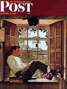 """Willie Gillis in College"" Saturday Evening Post Cover, October 5,1946 by Norman Rockwell"