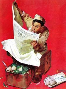 """Willie Gillis on K.P"", April 11,1942 by Norman Rockwell"