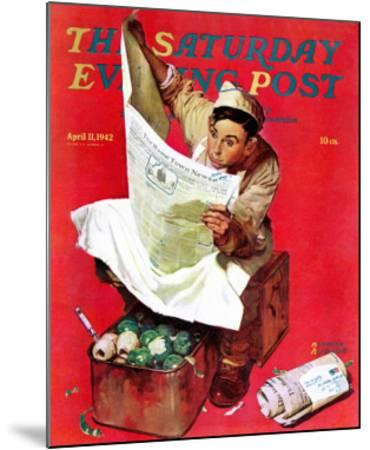"""Willie Gillis on K.P"" Saturday Evening Post Cover, April 11,1942"