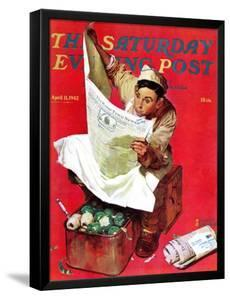 """""""Willie Gillis on K.P"""" Saturday Evening Post Cover, April 11,1942 by Norman Rockwell"""